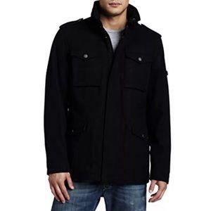 Ben Sherman Black Wool Coat